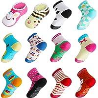 Lictin Calcetines Antideslizantes para Niños-14 Pares Calcetines para Bebés Unisex Calcetines Antideslizantes para Niños…