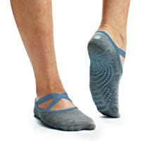 Gaiam Yoga Barre Socks | Non Slip Sticky Toe Grip Accessories for Women & Men | Pure Barre, Yoga, Pilates, Dance | One…