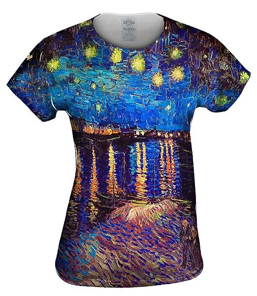 Yizzam Vincent Van Gogh The Starry Night (1889) Tshirt Womens Shirt