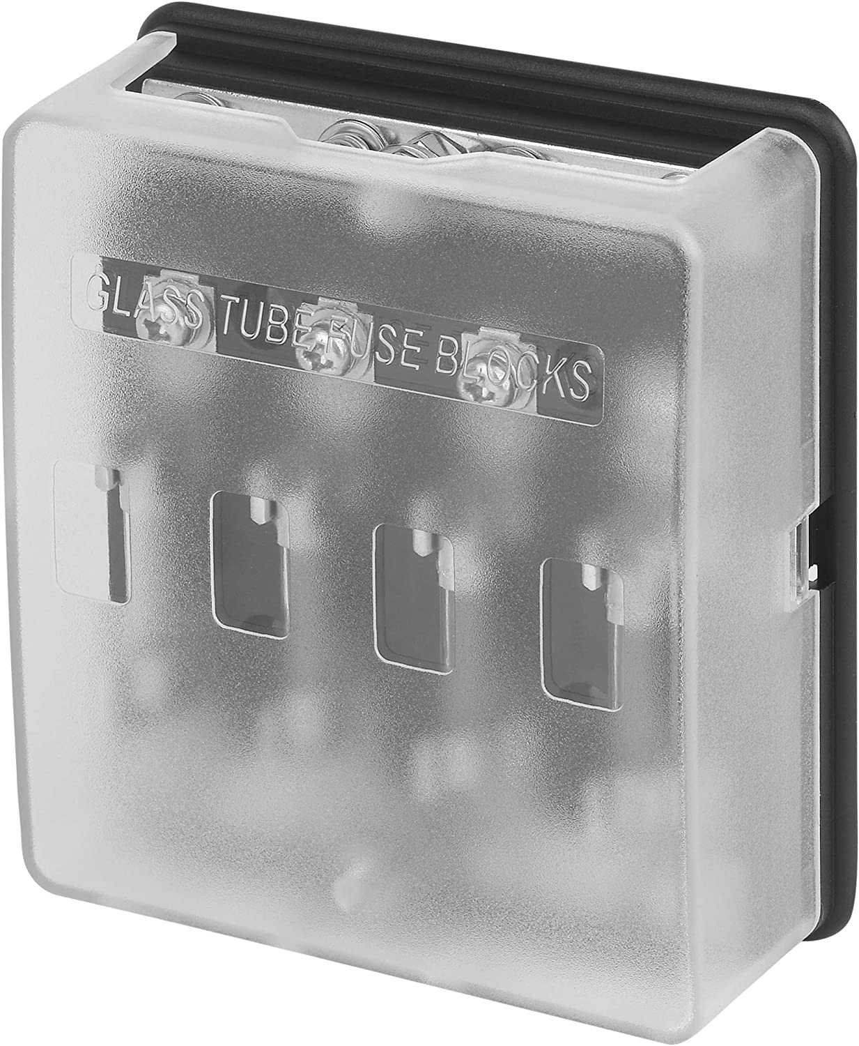 Jtron 8 Way Fuse Distribution Box with Ground 8 way fuse holder Bolt Connect Terminals With Protection Cover Glass Tube Fuse Block W//Negative Bus for Automotive Vehicle Boat Marine 32V 100A