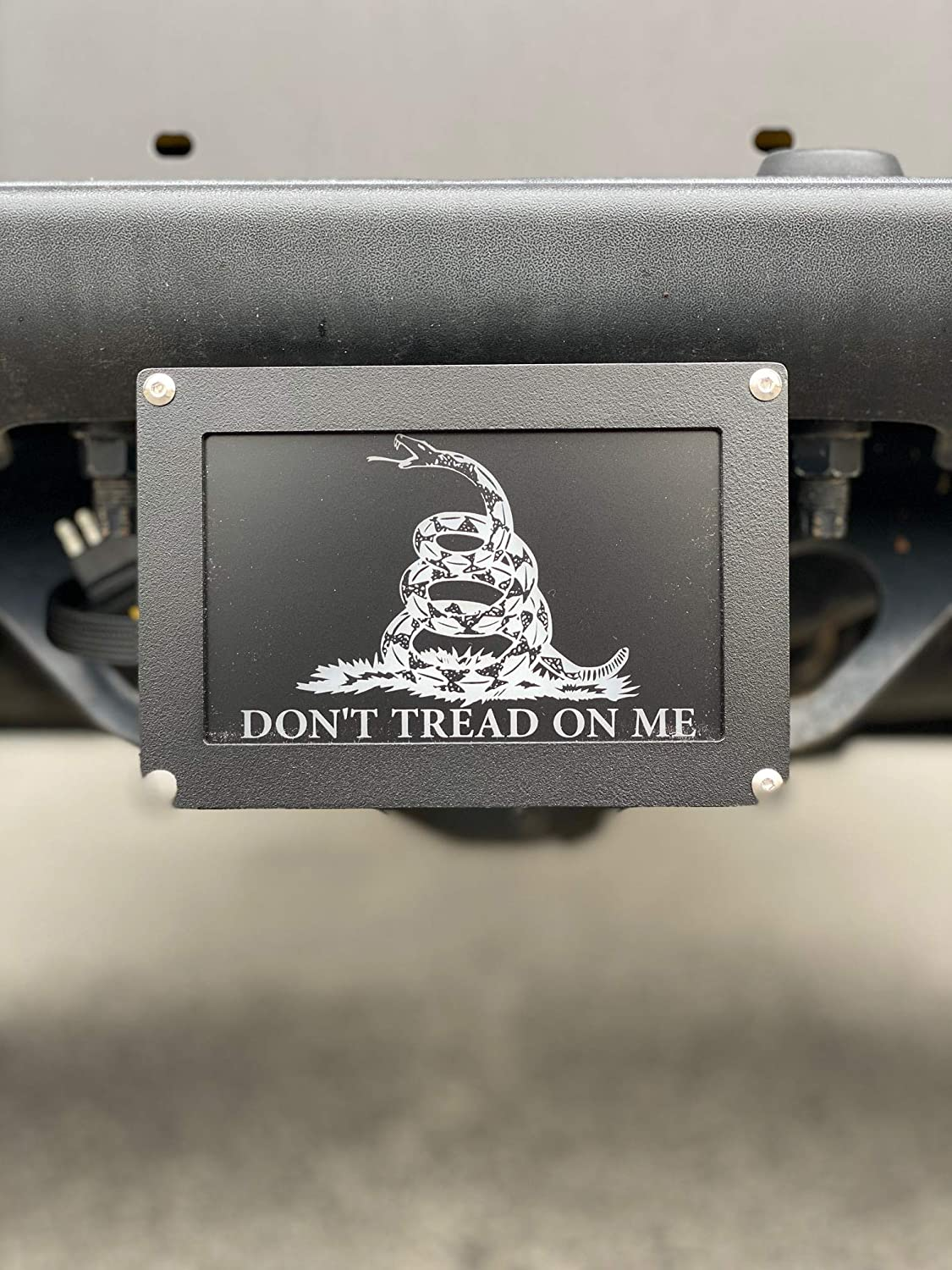1st Amendment Hitch Covers Interchangeable Flag LED Hitch Cover Including American Flag and Dont Tread on Me Snake Made in The USA