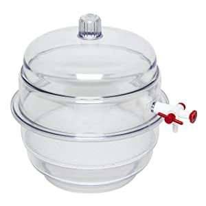 "Bel-Art""Space Saver"" Polycarbonate Vacuum Desiccator with Clear Polycarbonate Bottom; 0.20 cu. ft. (F42022-0000)"