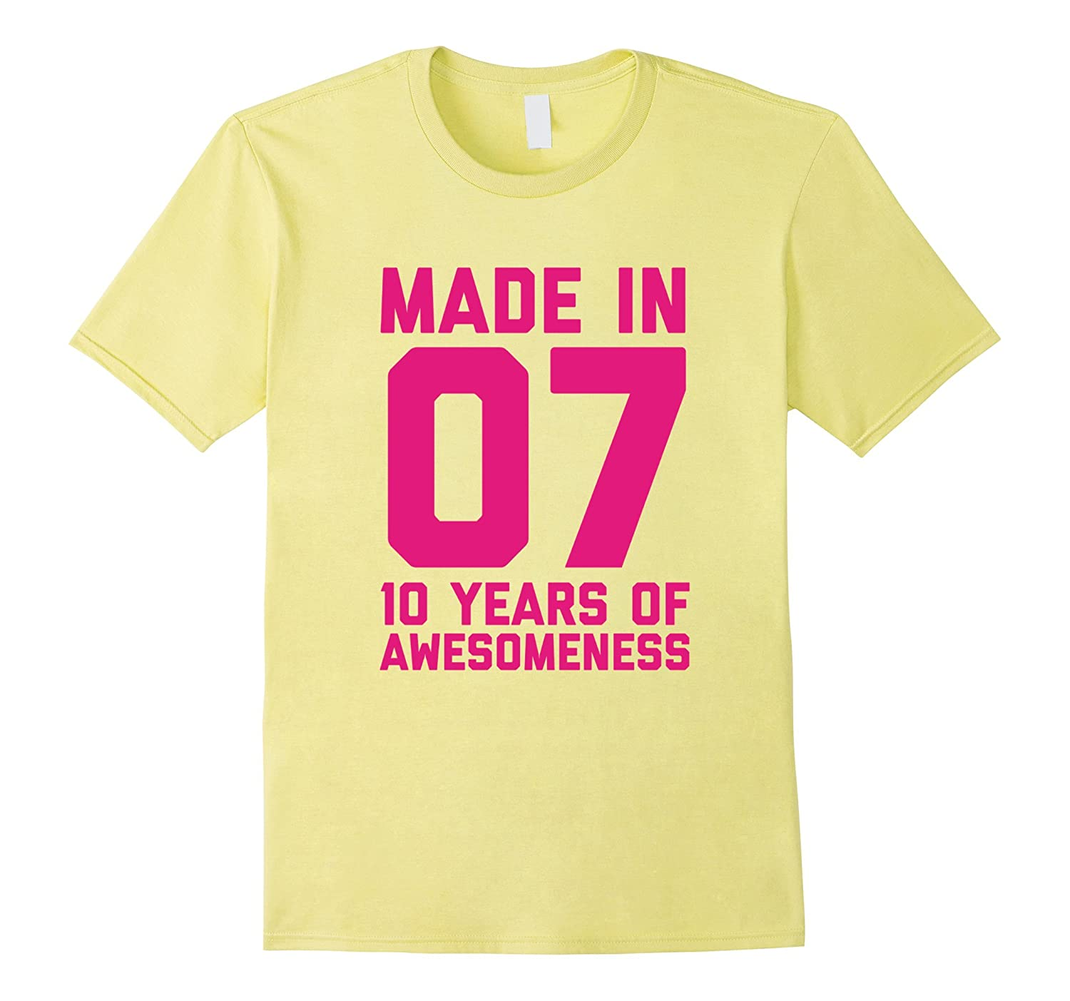 10th Birthday Shirt Gift Age 10 Year Old Girls Tshirt Tee-FL