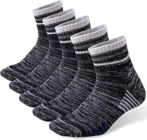 Paquete m/últiple para Deportes al Aire Libre FEIDEER Calcetines de Senderismo para Hombre Acolchados