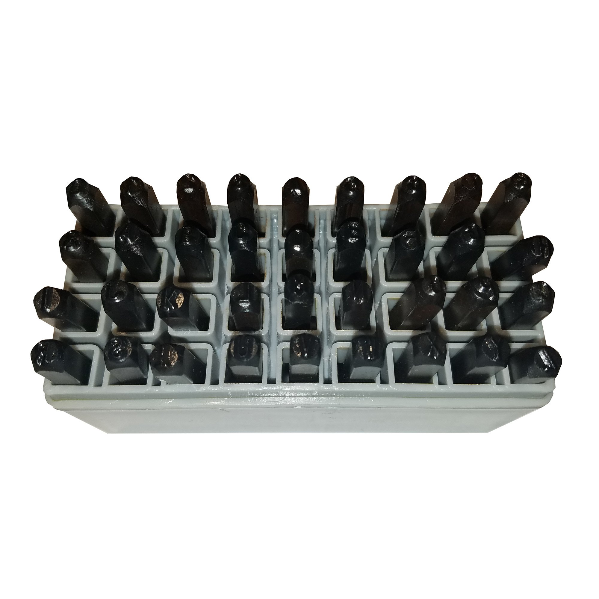 HFS (R) Number & Capital Letter Punch Set 36 Pc ; 5/32'' - 4mm, Transfer Punches