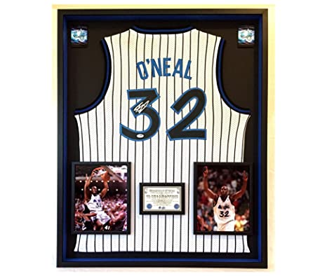 525a5c07a50 Image Unavailable. Image not available for. Color  Premium Framed Shaquille  O Neal Autographed Signed Orlando Magic Official Nike Jersey ...