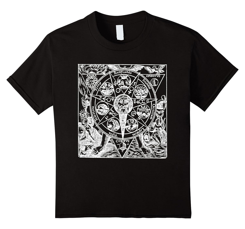 Alchemy T Shirt Hermeticism Occult Graphic-Teechatpro