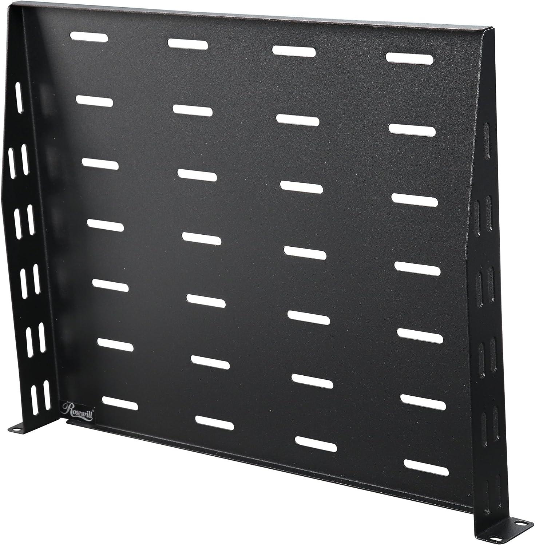 "Rosewill 1U  Universal Vented Rack Mount Server Shelf for 19/"" Racks RSA-1USHF02"