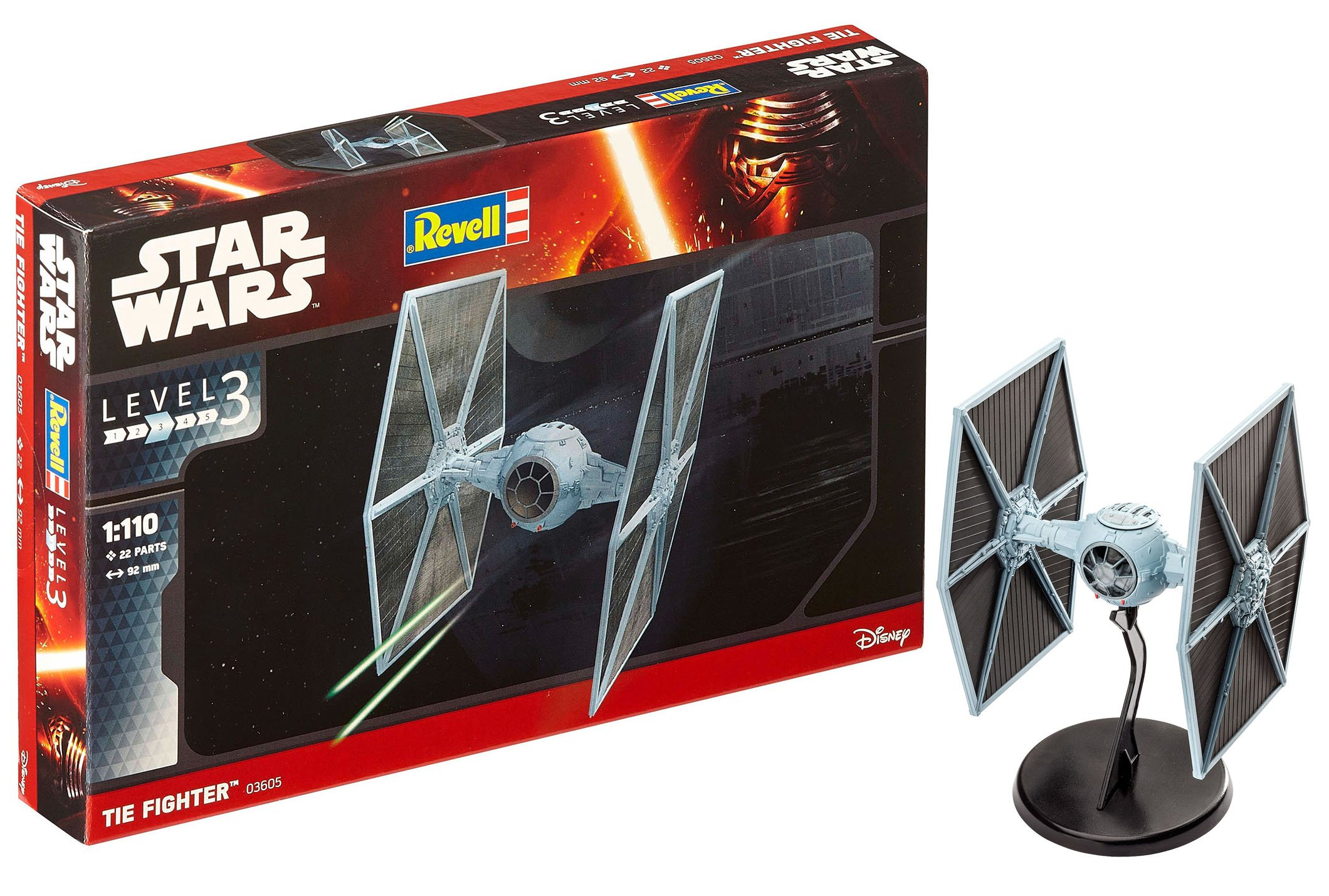 Revell Star Wars Tie Fighter, Kit modele, Escala 1:110 (03605) product image