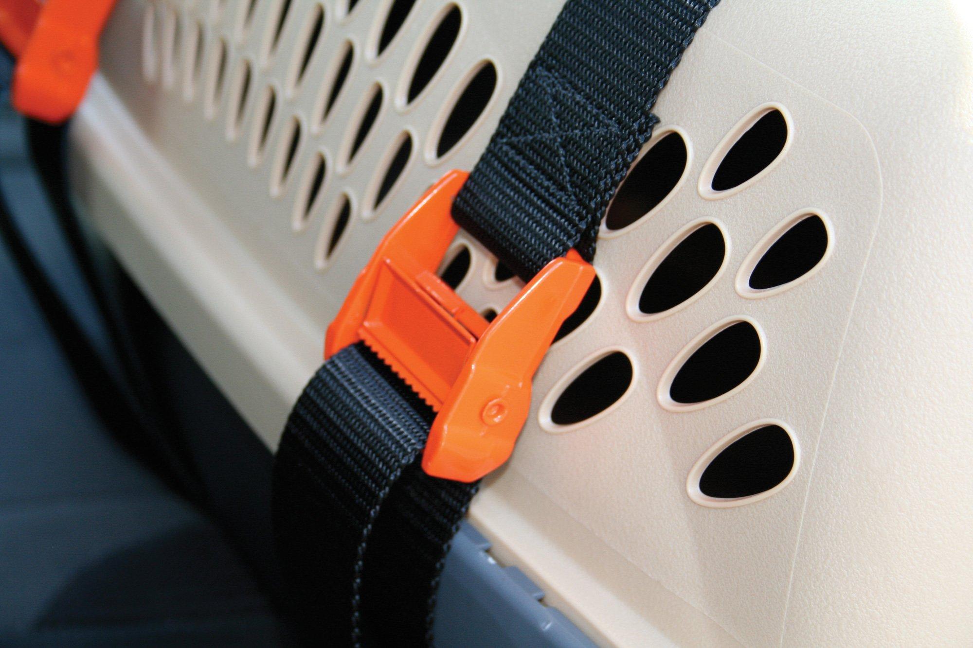 Kurgo Dog Carrier Keeper , Pet Car Seat Carrier Strap, Black (Carrier Not Included)