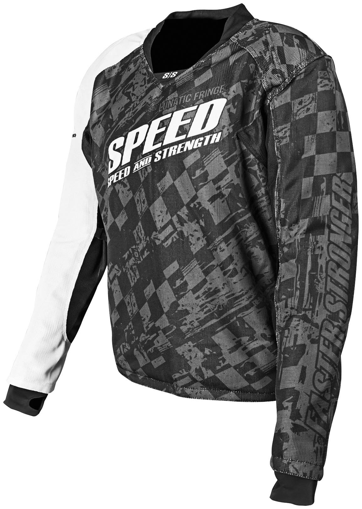 SPEED AND STRENGTH Lunatic Fringe Mesh Armored Jersey Black LG 87-8135