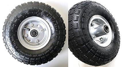 2 ruedas de aire, Llanta de acero 4,10/3,50 –