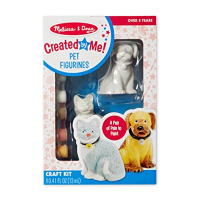 Melissa & Doug Decorate-Your-Own Pet Figurines Craft Kit (Paint a Cat and Dog, Great Gift for Girls and Boys - Best for 8, 9, 10, 11, 12 Year Olds and Up): Melissa & Doug: Toys & Games