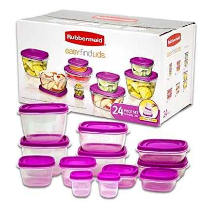 Rubbermaid Easy Find 24 Piece Set - Purple  sc 1 st  Amazon.com & Amazon.com: Rubbermaid Easy Find 24 Piece Set - Purple: Kitchen u0026 Dining