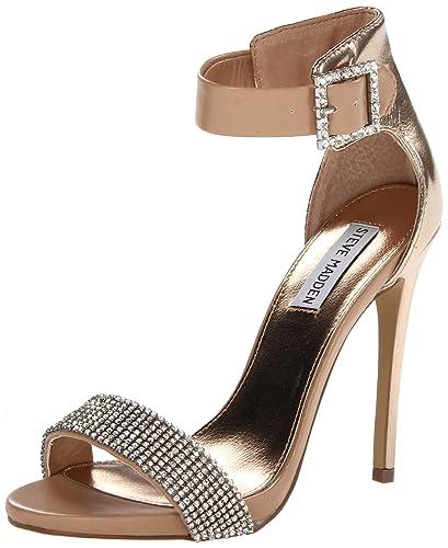 Steve Madden Marlen-R Womens Tan Faux Leather Dress Sandals Shoes Size UK  7.5