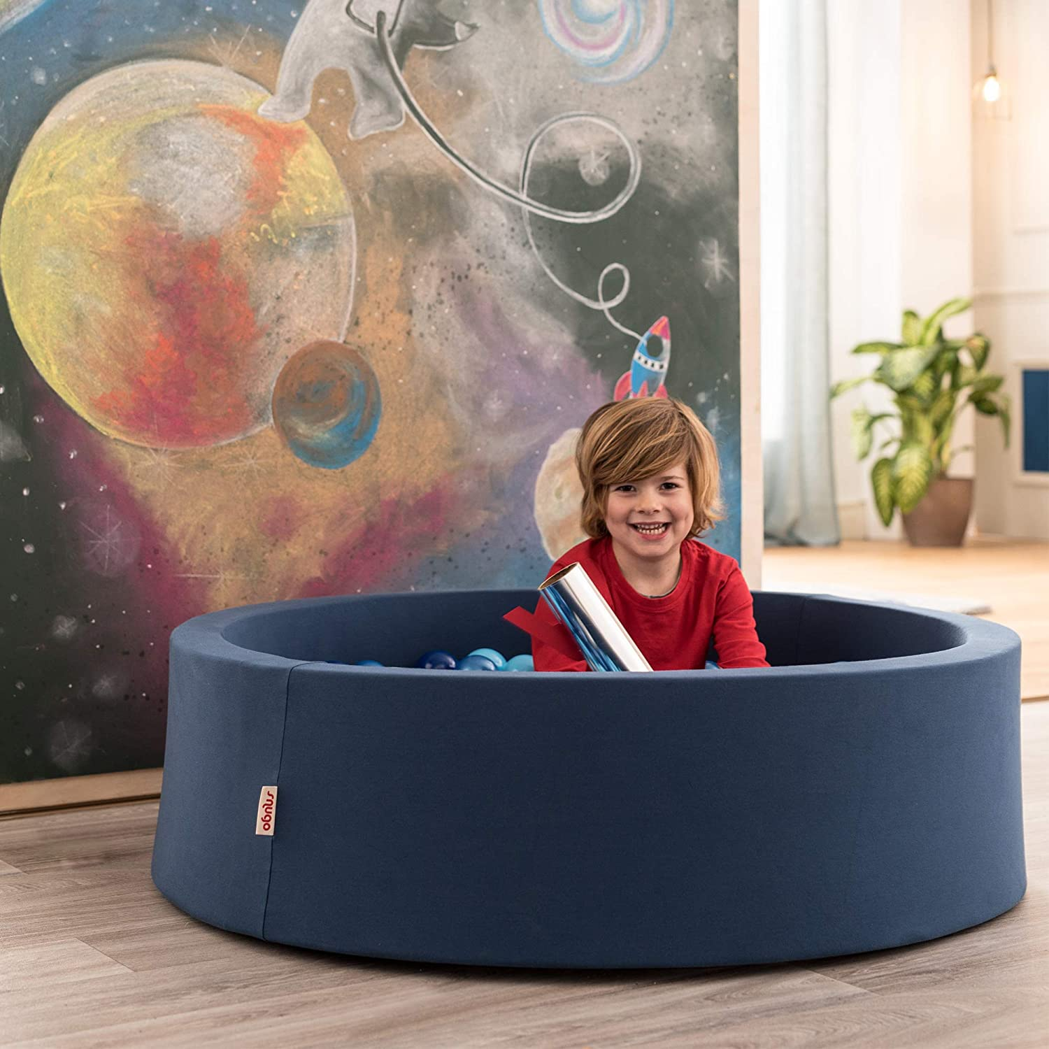 snugo Children's Ball Pit World in Dark Blue with Over 350 Balls Made in Germany / Augsburg