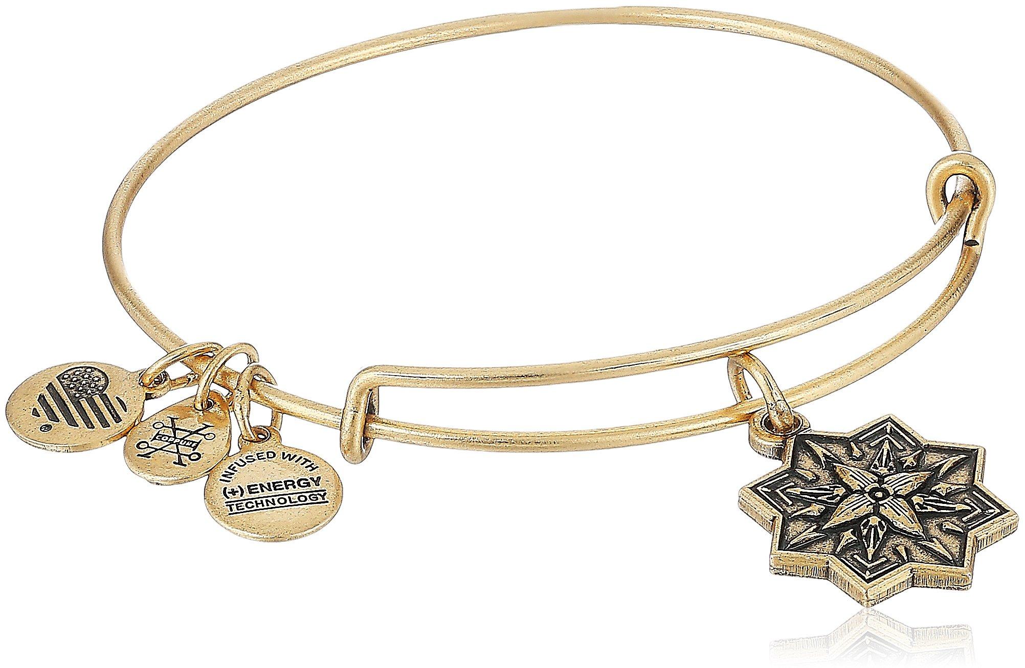 Alex and Ani Healing Love II Bangle Bracelet, Rafealian Gold, Expandable