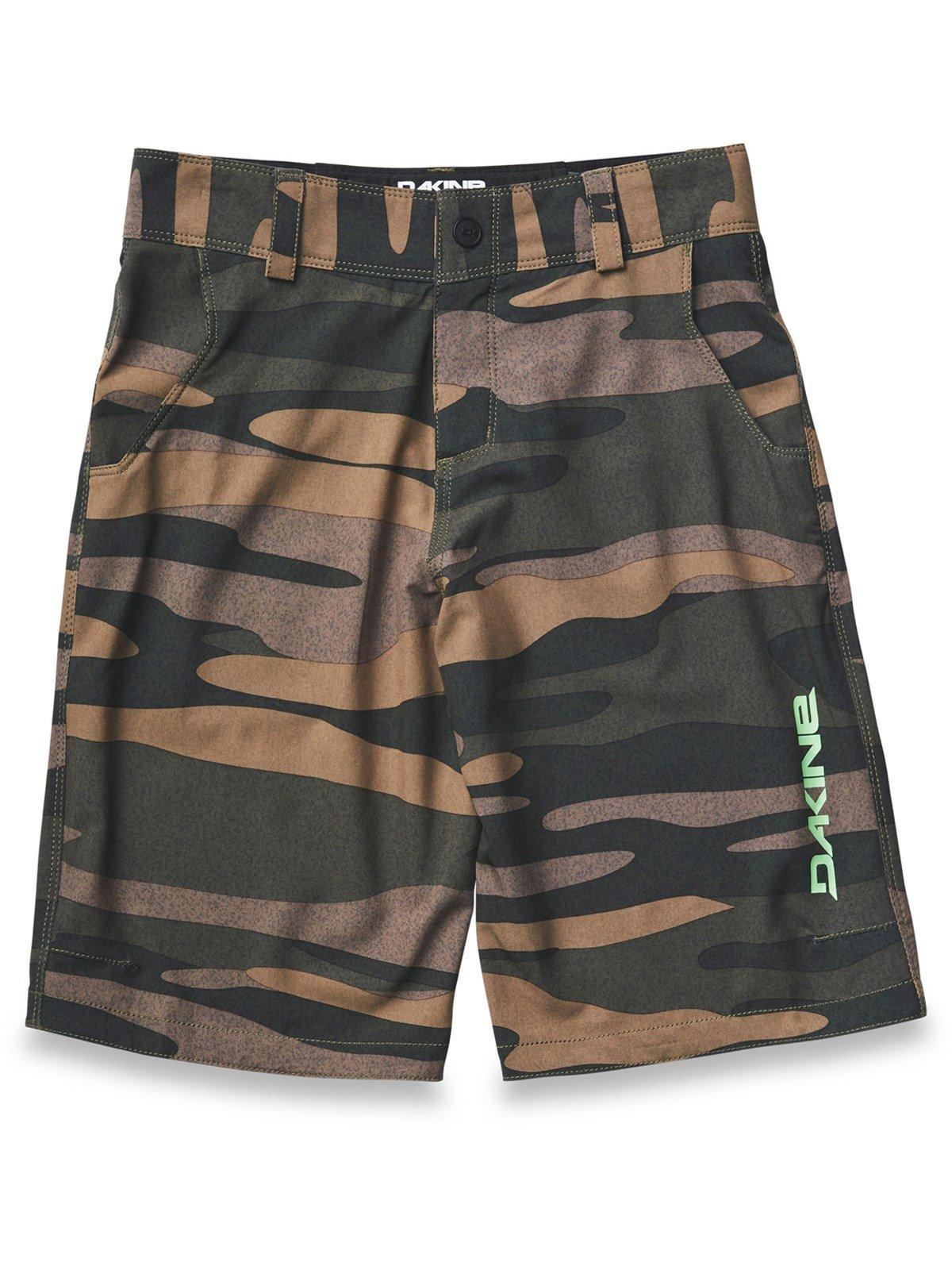 Dakine Kid's Pace Bike Shorts, Field Camo, 12