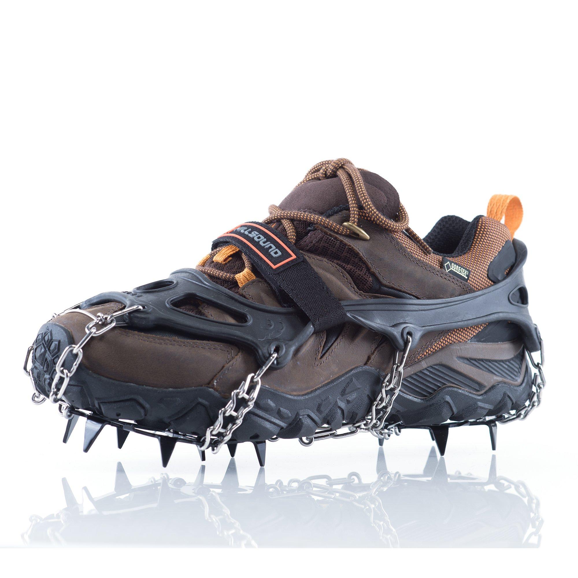 Hillsound Trail Crampon Traction Device, Black, Medium