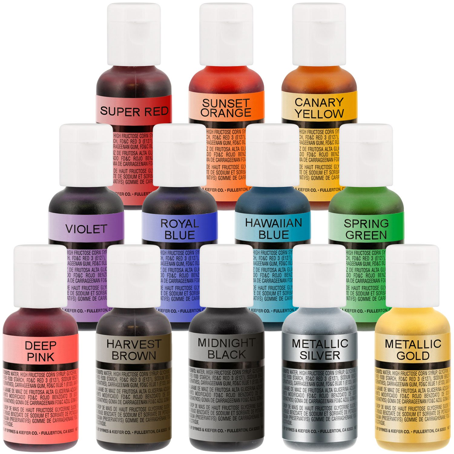 3 Airbrush Master Airbrush Cake Decorating Airbrushing System Kit with Set of 12 Chefmaster Food Colors, Gravity & Siphon Feed Airbrushes, Air Compressor - Decorate Cakes, Cupcakes, Cookies, Desserts by Master Airbrush (Image #6)