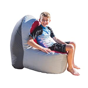 Rickety Rock Bean Bag Chair for Kids - Stuffed Animal Storage, Bean Bag Cover for Child Indoor Outdoor Waterproof Polyester, Shark