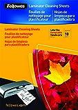 Fellowes 5320604 - Hojas de limpieza para plastificadora (10 unidades)