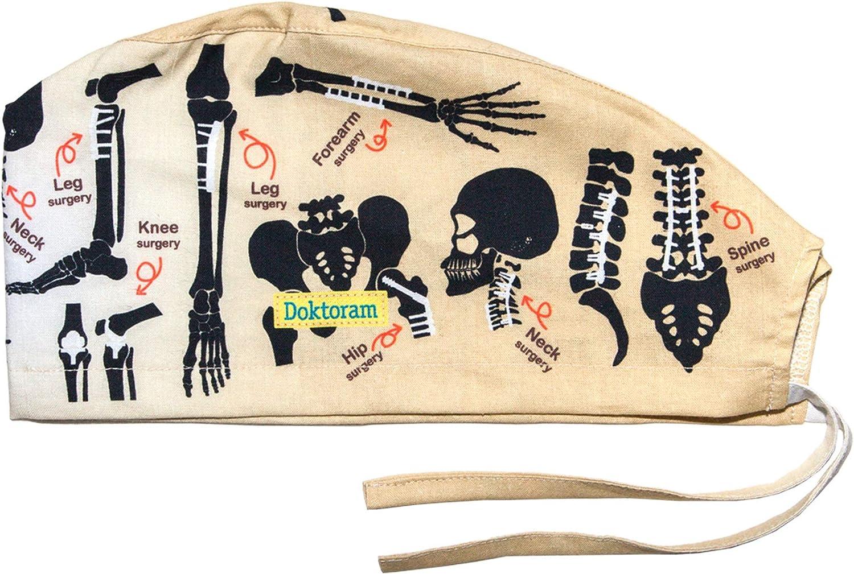 Men/'s Surgical Scrub Cap; Skeletons Skeletons Skeletons