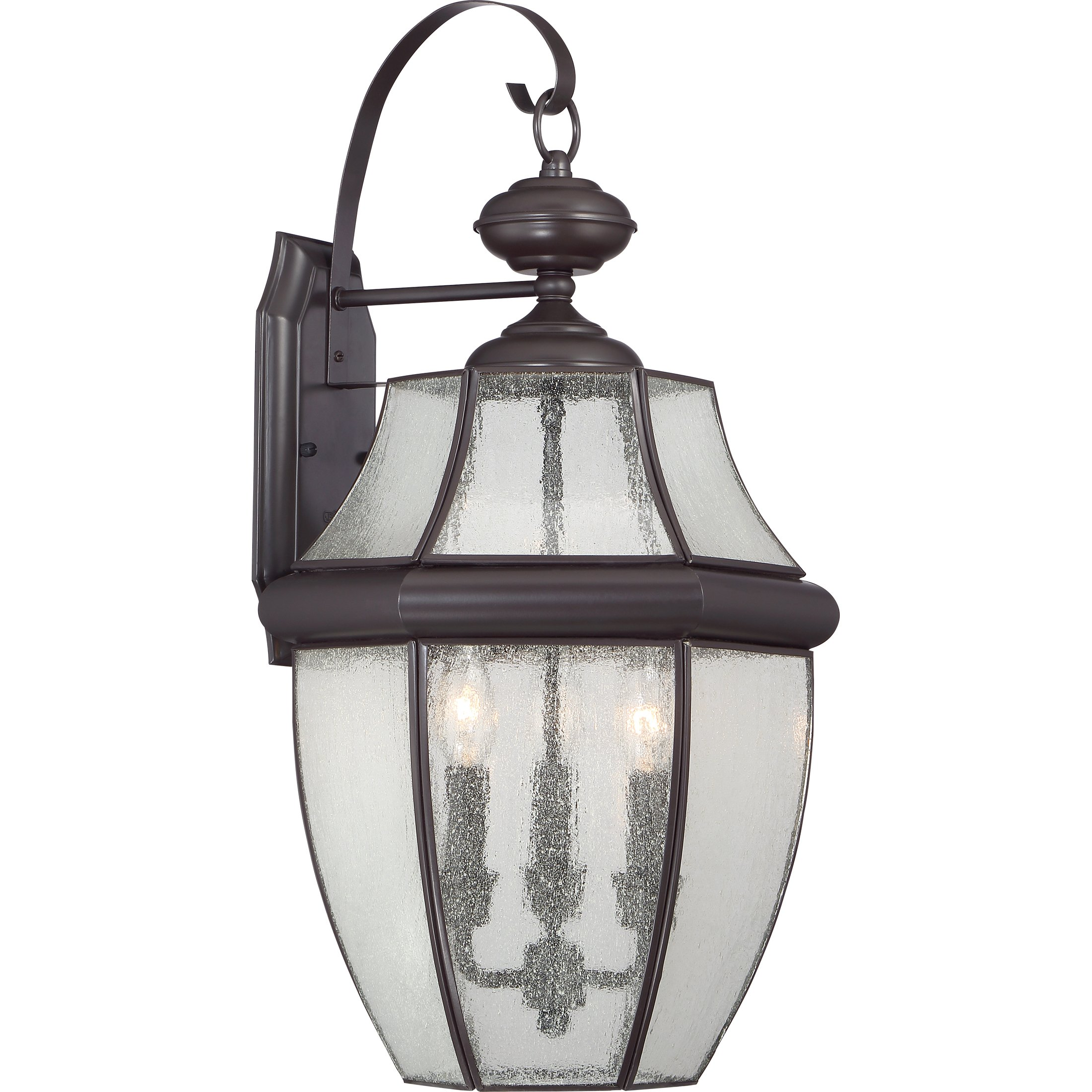 Quoizel NY8412Z  Newbury 3-Light Outdoor Lantern, Medici Bronze by Quoizel