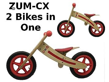 Zum Cx Wooden Balance Bike Childrens Bicycles