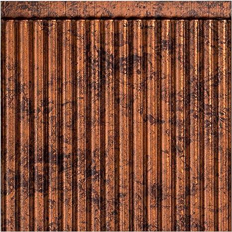 Amazon Com Fasade Rib Decorative Vinyl Backsplash Panel In Moonstone Copper 6x6 Inch Sample Home Improvement