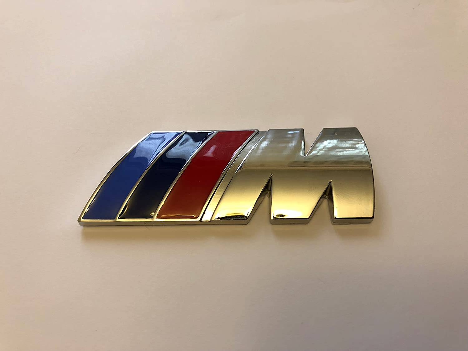M POWER SPORT M TECH REAR BOOT BADGE CHROME POWER
