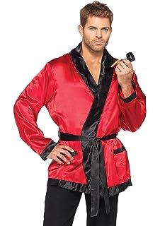 Amazon.com: Fun World Mens Casanova Smoking Jacket Adlt, Multi One ...