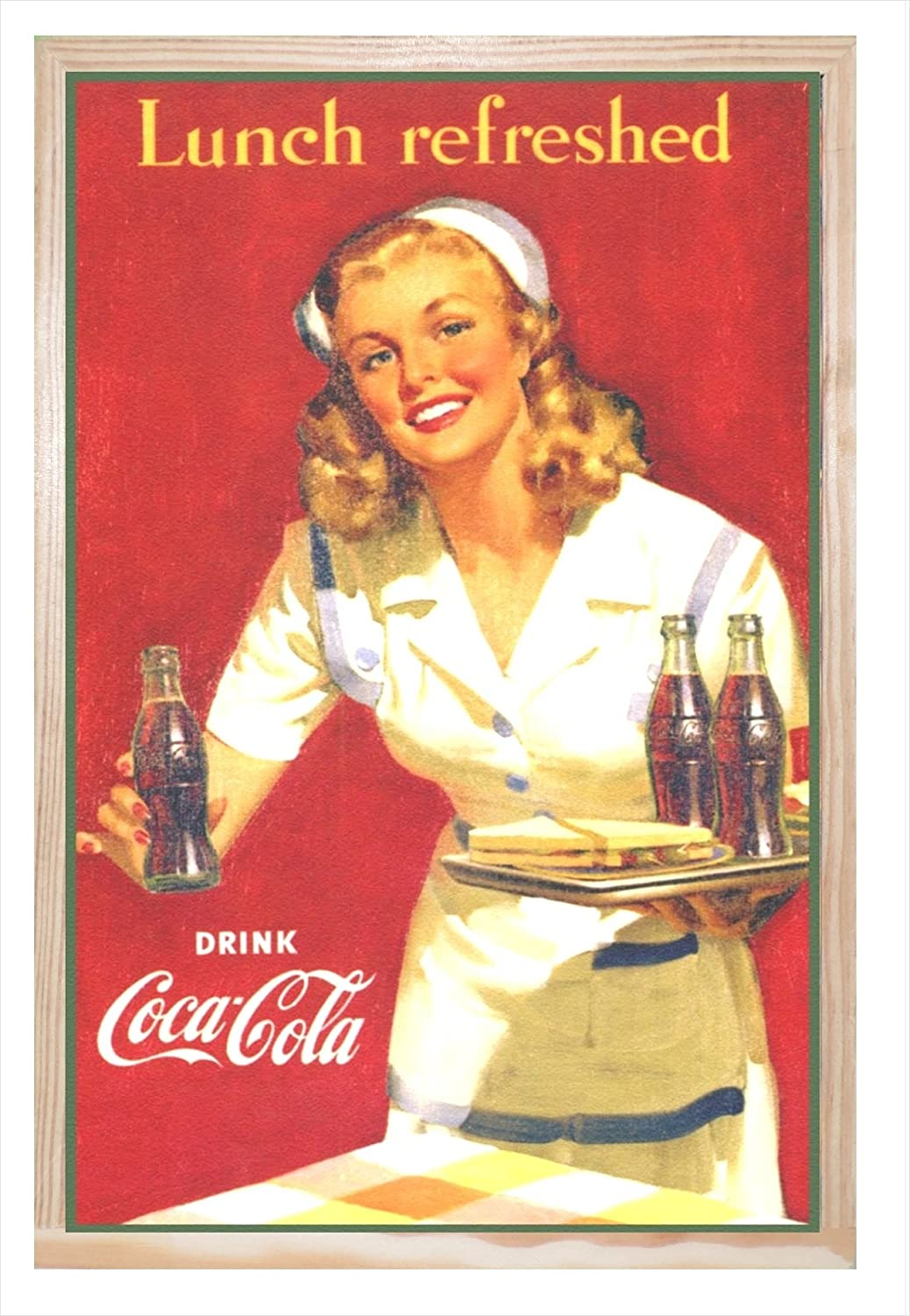 Ccretroiluminados Coca-Cola Lunch Refreshed Cartel Vintage ...