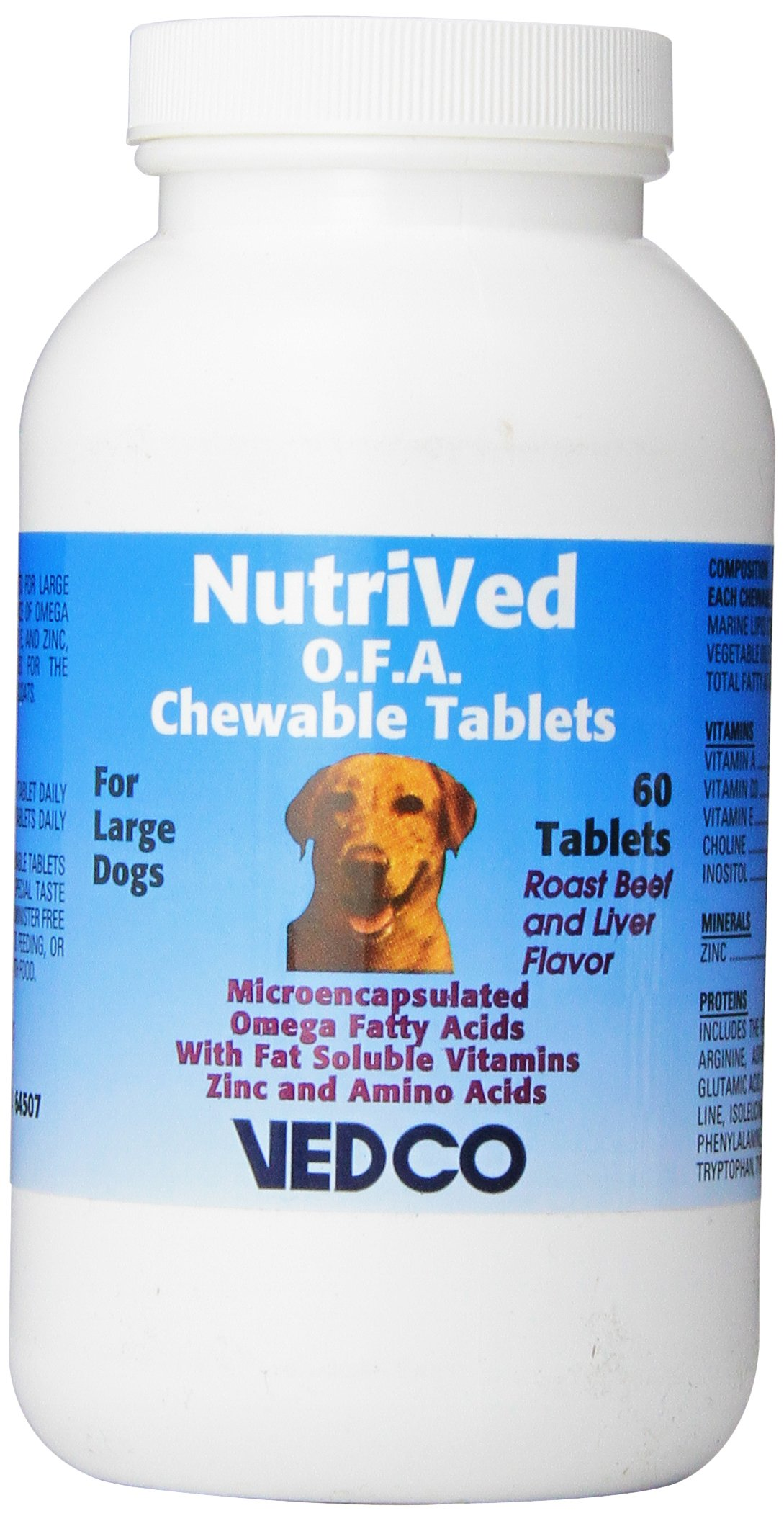 Vedco 60 Count Nutrived O.F.A. Chewable Tablets for Large Dogs