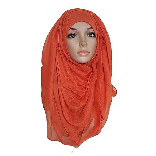 Banana Baazar - Pañuelo para la cabeza - para mujer Negro Naranja Quemado Talla única