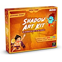 Be Cre8v Ramayana Theme Storytelling Shadow Story Art Activity Kit for Kids Over 4 Years. Education & Fun Toy for Children