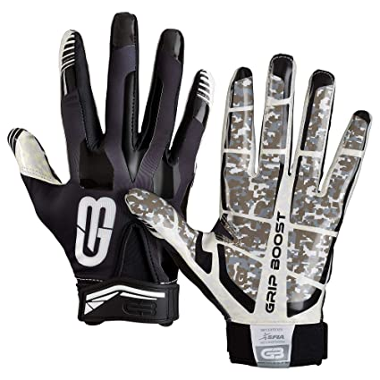 Amazon.com   Grip Boost Stealth Super Sticky Football Gloves Pro ... 43f4ba6a3