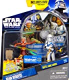"Star Wars Clone Wars DVD Set ""Brain Invaders"" Ahsoka & Clone Trooper Scythe"