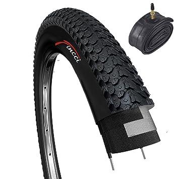 Fincci Set 26 x 2,125 Pulgadas 57-559 Cubierta con Cámara de Aire Presta Válvula Interior para MTB Montaña Hibrida Bici Bicicleta: Amazon.es: Deportes y ...