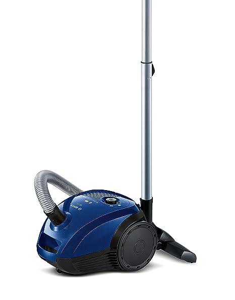 Bosch BGL2UA113 Aspirador con Bolsa GL-20, diseño Compacto, Cepillo Especial para parquet, Color Azul North Cape, [Etiqueta energética Clase A], 600 ...