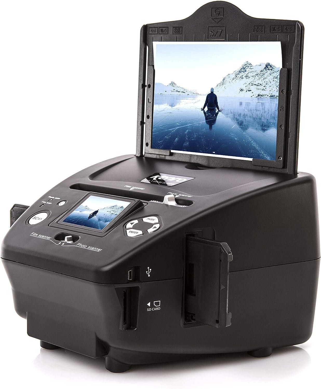 Kenro Esc/áner de pel/ícula USB 4 en 1 para fotos diapositivas y negativos de alta resoluci/ón con pantalla LCD para Windows 10 KNSC302