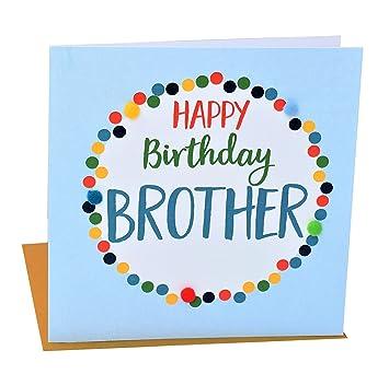 Pom Pomhappy Birthday Brother Greeting Card Amazon Office