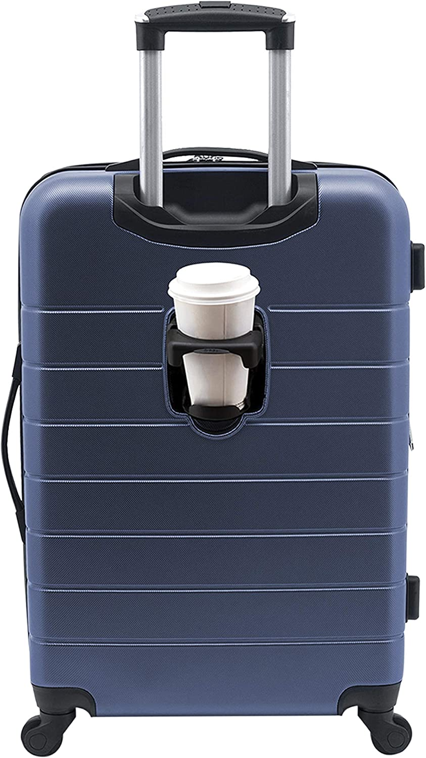"""Wrangler 20"""" Smart Spinner Carry-On Luggage With Usb Charging Port, 20 Inch Carry-On, Navy Blue"""