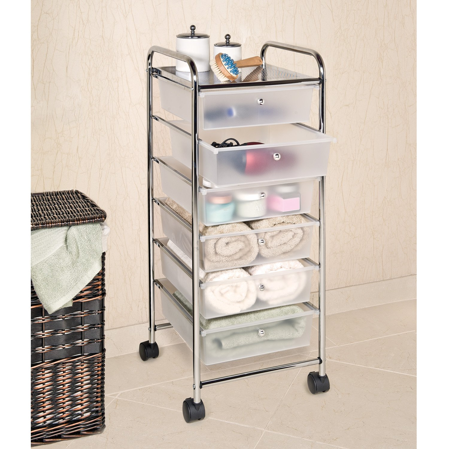 drawers top itm organizer plastic rolling cabinet storage white with cart box drawer craft