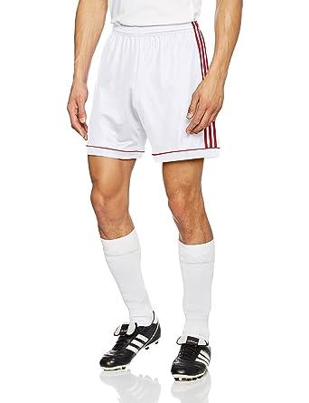 46b72a1b4e52 adidas Squad 17 Sho Shorts for Man, White (White/Rojpot): Amazon.co.uk:  Clothing