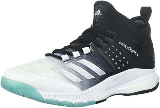 adidas Women's Shoes | Crazyflight X Mid Volleyball Shoe - White/Metallic  Silver/Black