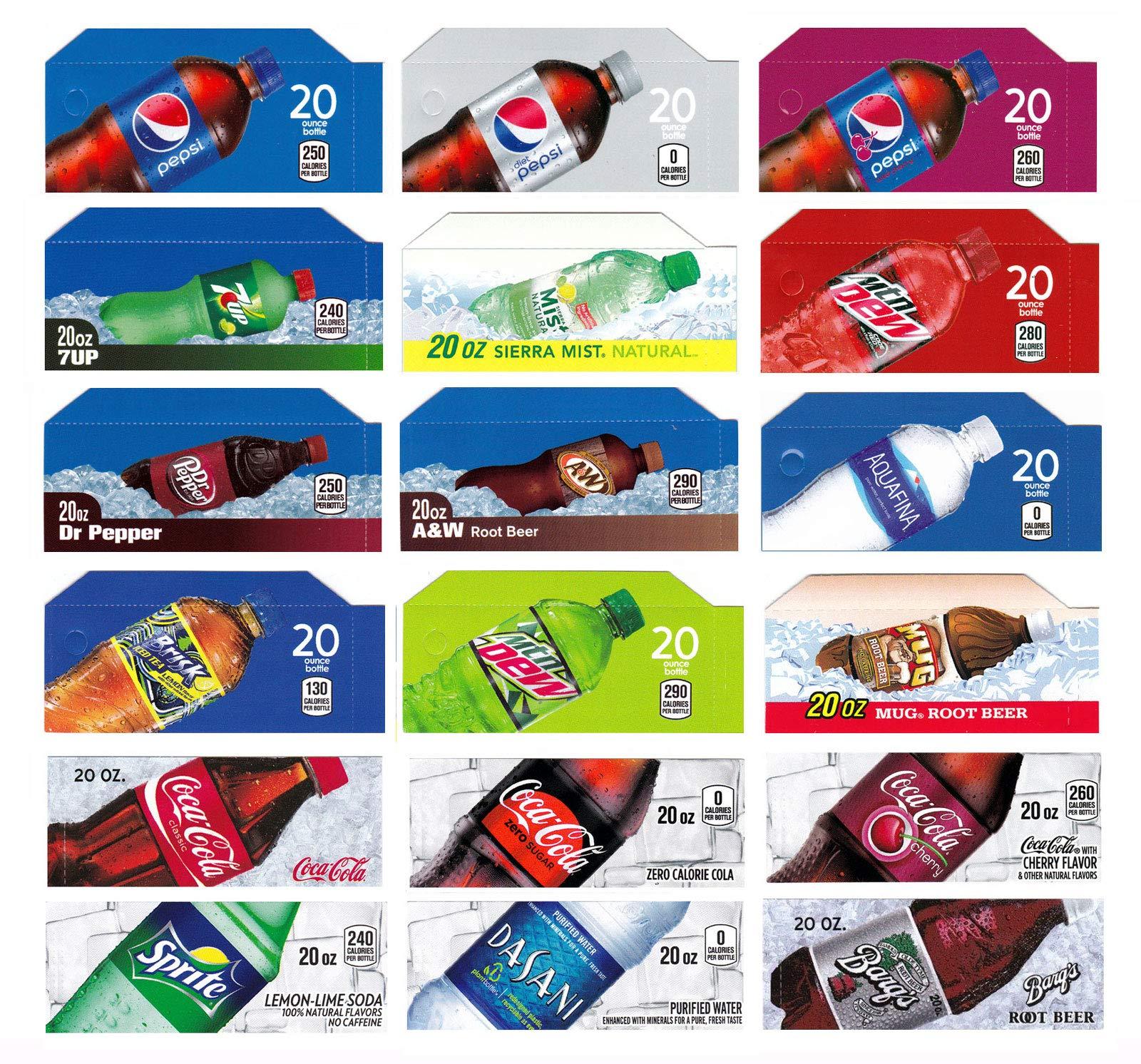 Vending-World - 18x Flavor Strip for 20 oz Bottles Soda Pepsi Coke Vending, fits Dixie Narco, Vendo by Vending-World