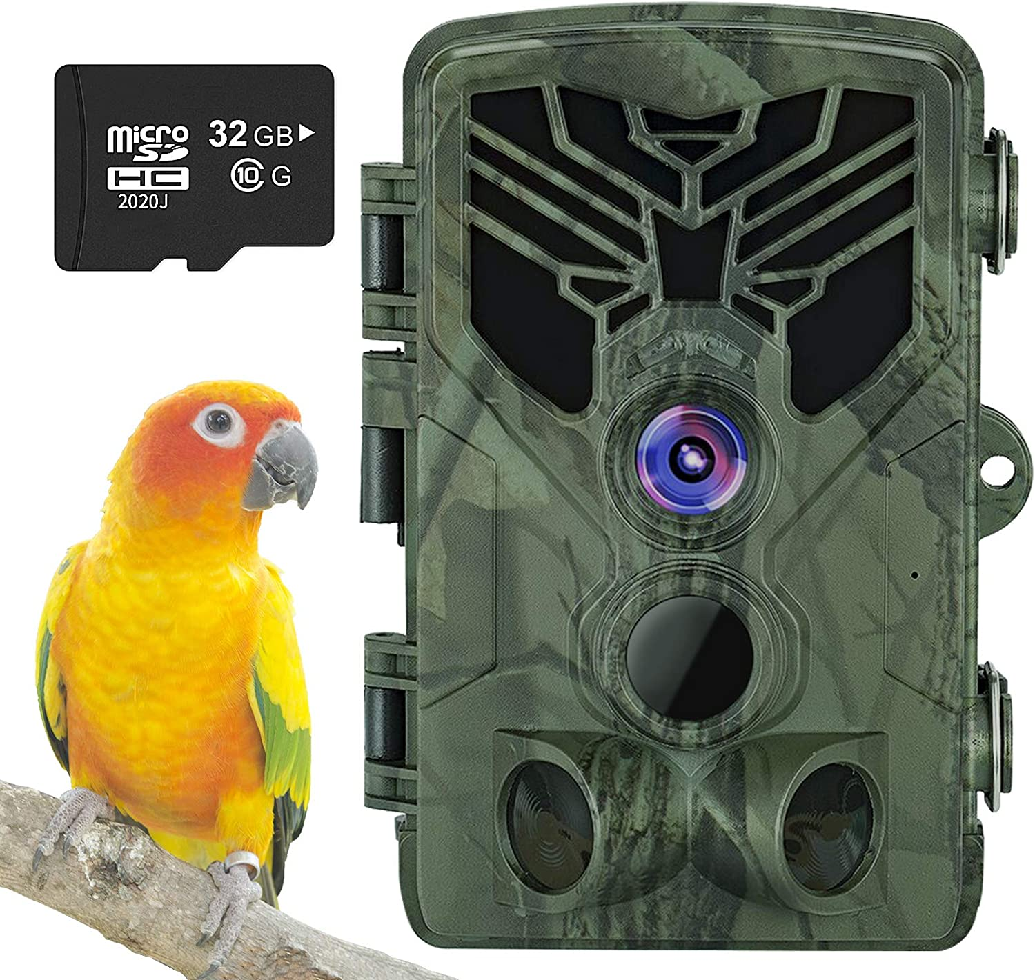 Taotique WiFi Bluetooth Trail Camera 20MP 1080P Hunting Game Camera with Night Vision Motion Activated Waterproof Scouting Wildlife Cam with 32gb SD Card 120° Wider Angle Lens for Outdoor Garden