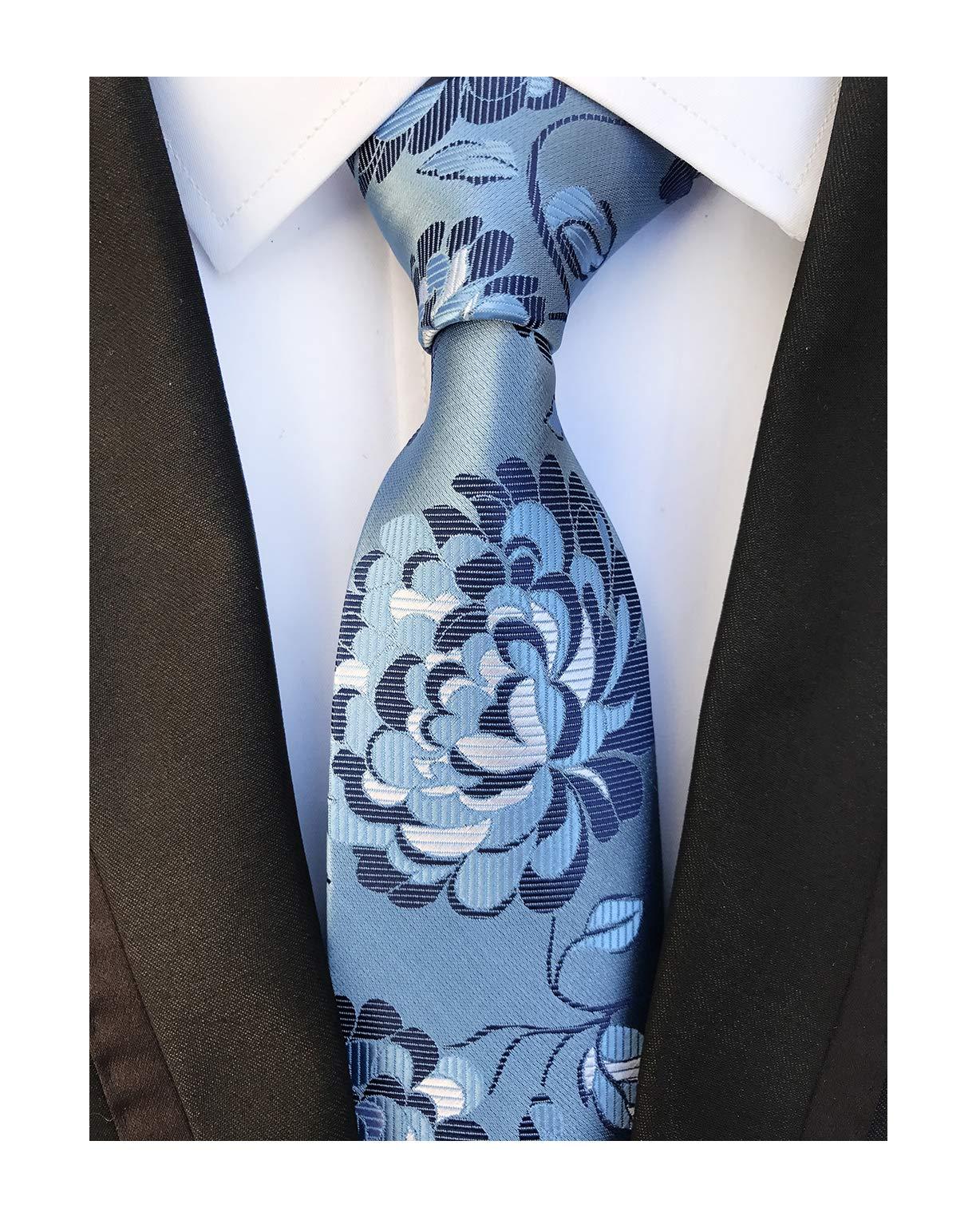 Sky Blue Navy Young Woven Silk Ties Fashion Gentleman Dress Nice Boy Men Necktie