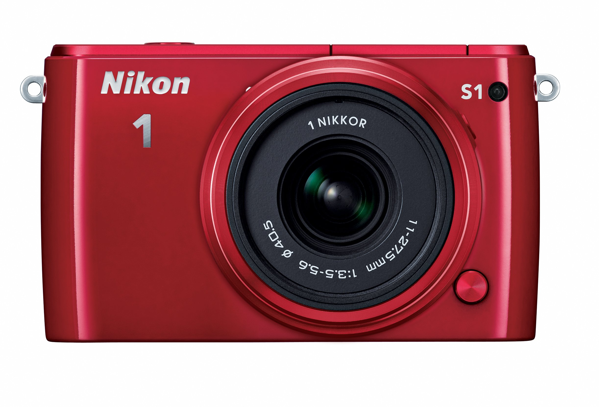 Nikon 1 S1 10.1 MP HD Digital Camera with 11-27.5mm 1 NIKKOR Lens (Red)